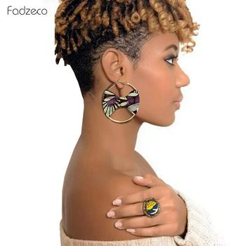 Fadzeco Vintage Painted 14 Style Africa Drop Earrings For Women Round African Ethnic Fashion Bohemia Ear Jewelry Party Accessory image