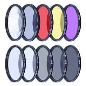 Image 1 - Durável prático filtro adaptador anel uv cpl vermelho fld nd4 6 8 close up + 10 lente acessórios de mergulho para gopro hero 9 preto