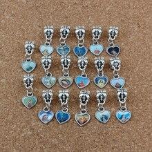 150pcs/lots Enamel Heart of Jesus Christian cross Dangle Charm Beads Fit Bracelet DIY Jewelry 10x23.5mm A-529a