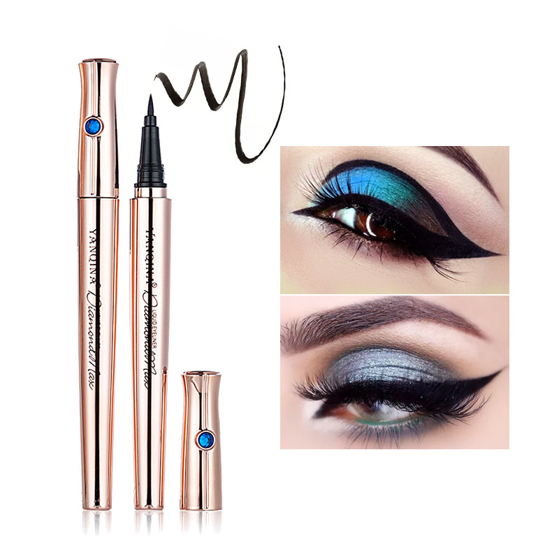 Yanqina yan qi na Cool Black Belt Drilling Eyeliner Not Smudge Quick-Dry Waterproof Liquid Eyeliner 8669 image