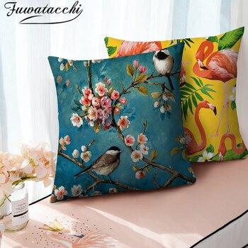 Funda de cojín de flores de fatatacchi, varias flores, decoración del hogar, funda de almohada, fundas de almohada, 45x45cm, cojín decorativo para asiento de sofá