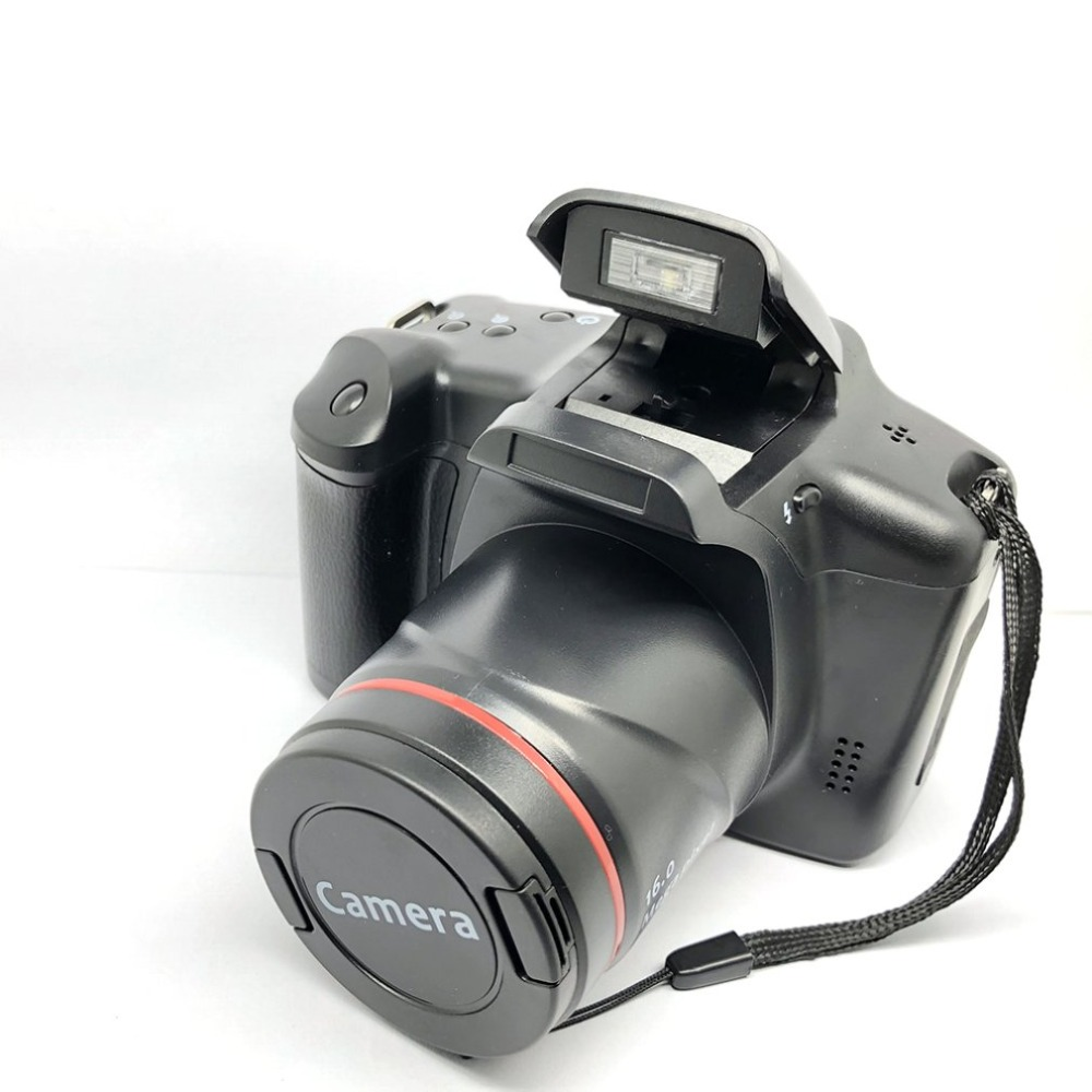 H9a8199feee7446ff978b6088cf57ad49R XJ05 Digital Camera SLR 4X Digital Zoom 2.8 inch Screen 3mp CMOS Max 12MP Resolution HD 720P TV OUT Support PC Video