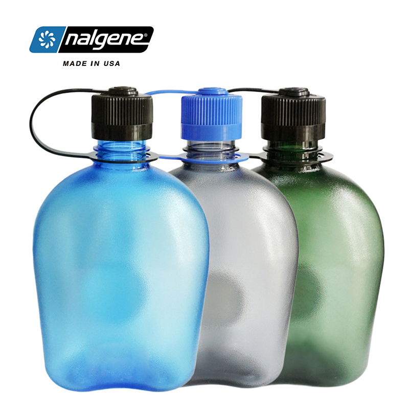 Nalgene Large Capacity Sports Kettle Plastic Water Cup Outdoor Fitness Space Cup Portable Water Bottle 1L Hiking Travel Cycling