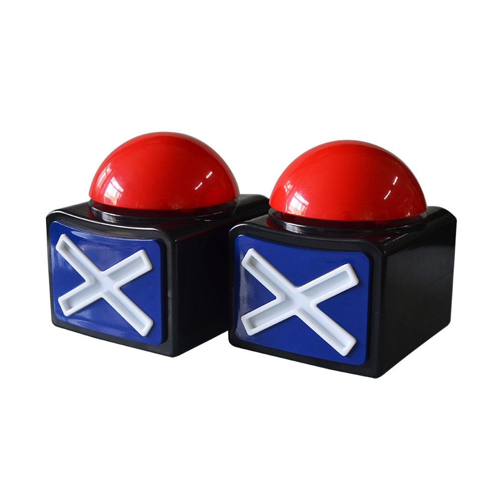 Toy Game Answer Buzzer Prank Relieve Stress ABS Joke Ring Alarm Button Loud Fun Sound Light Got Talent Trivia Quiz