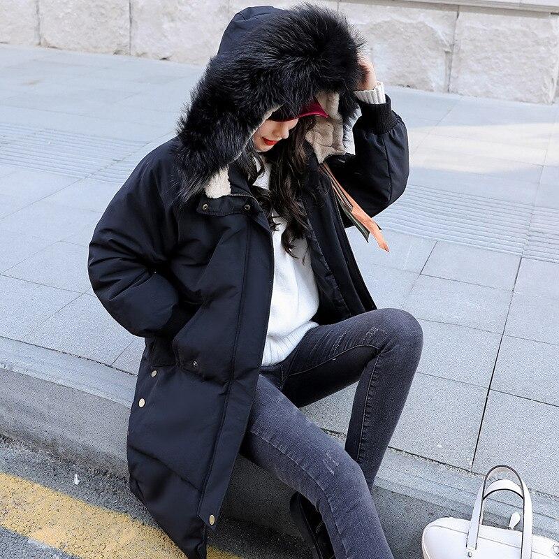 Winter Coat Female Long Warm Duck Down Jacket Women Raccoon Fur Hooded Clothes 2020 Thick Down Coat Overcoat Hiver LW1726
