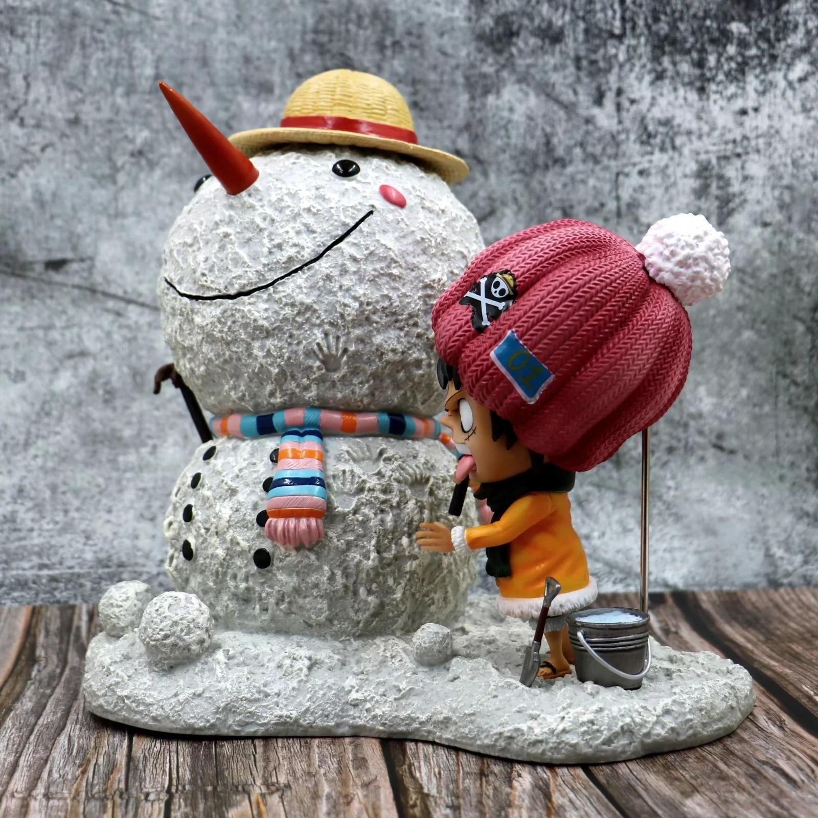X051 4 m hight Opblaasbare sneeuwpop hoed, opblaasbare Kerst decoratie, opblaasbare sneeuwman met LED Licht - 3