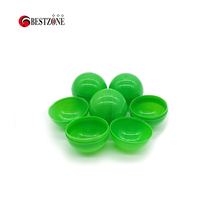 300Pcs/Lot 40MM Plastic Toy Capsules Empty Round Balls Full Green Can Open And Close For Kid Grasping Outdoor Vending Machine