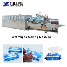 Baby Wet Wipes Making Machinery Automatic Wet Wipes Packing Machine Nonwoven Wet Wipes Machinery Production Line