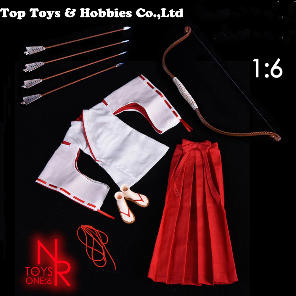 1/6 female NR20 Witch Kimono + Bow and Arrow Set for 12 Inch DIY Figure 12 Action Figure Toys Collection