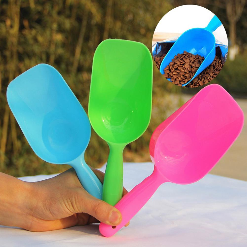 Portable Pet Dog Puppy Cats Bird Ferret Rabbit Food Feeder Scoop Shovel Spade Dishes Tool Pet Products nice image