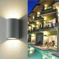 10W 6W FÜHRTE Wand Licht Im Freien Wasserdichte IP65 Park Landschaft Balkon Gang Veranda Garten Platz Hof Außenwand lampe Grau