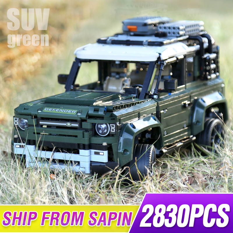 New Guardian Off-road Vehicle Land Car Rover Fit Legoings Technic Defender 42110 Model Building Blocks Bricks Toys Kid Christmas