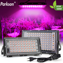 LED Grow Light AC220V 50W 100W LED Full Spectrum Phyto Lamp For Plants Greenhouse Hydroponic Growth Plants Lamp Lighting