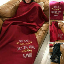 Novo 2019 Esta é A Minha Marca Registrada Assistindo Filme Macio Throw Blanket Blanket Engraçado Do Natal Lances Festival Presente(China)