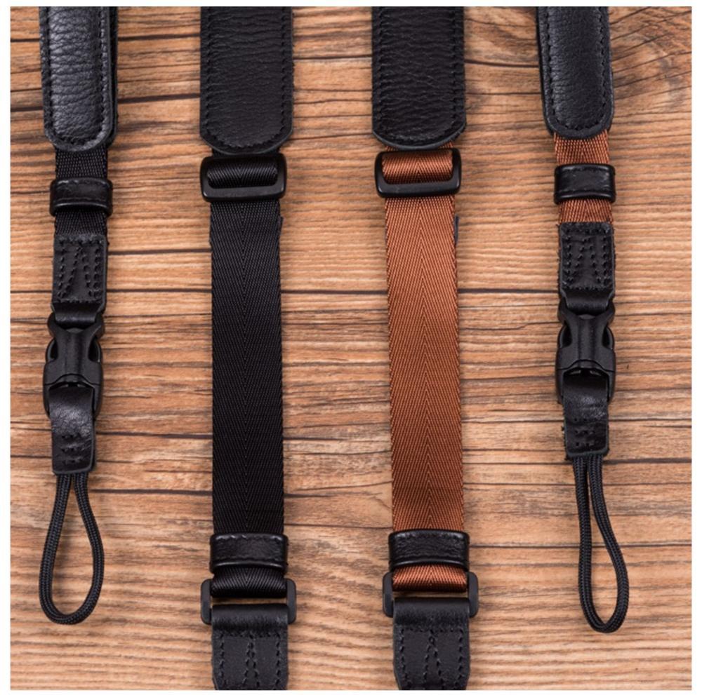 Color : Red Wrist Strap Camera Belt Accessory Vintage Original Handmade Genuine Leather Webbing Simple Camera Shoulder Strap DSLR Neck Wrist Belt Durable