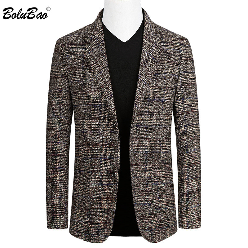 BOLUBAO Autumn New Men Casual Blazers Fashion Brand Men's Solid Color Business Small Suit Slim Trend Blazer Male Clothing