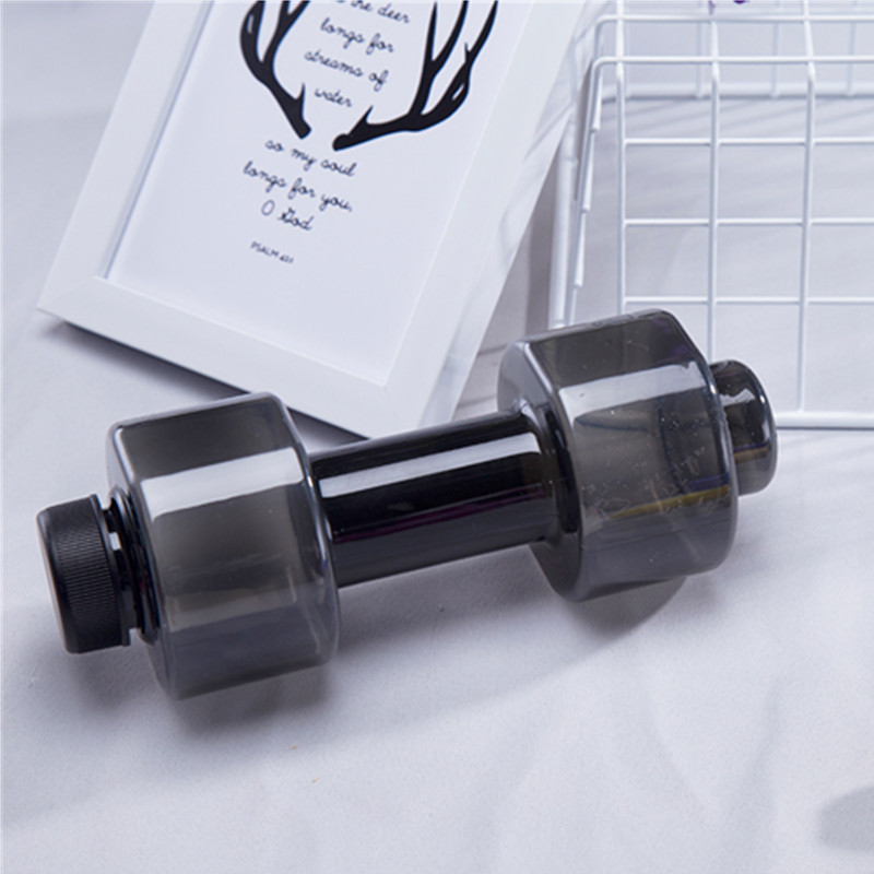 Creative Dumbbell Plastic Bottle Sports Water Bottles Portable Leakproof mancuernas Lose Weight Barbell Home Gym Equipment