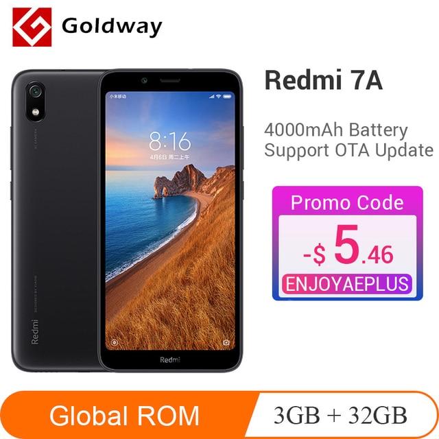 "Global Rom Xiaomi Redmi 7A 7 A 3GB 32GB Smartphone Snapdargon 439 4000mAh Battery 5.45"" 13MP Rear Camera Cellphone China Version"