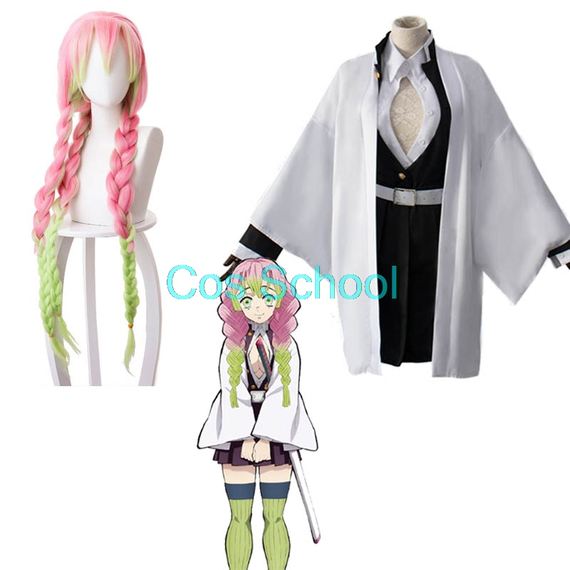 Kanroji Cosplay Wigs Costumes Mitsuri No-Yaiba Slayer:kimetsu Kisatsutai-Uniforms title=