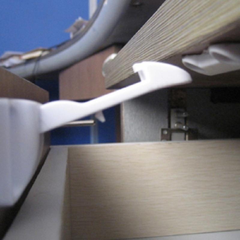 2 Pcs Hidden Drawer Lock For Children Safety Lock Cabinets Baby Door Safety Kids Anti Pinch Hand Protect Latch