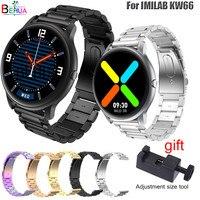 Edelstahl Armband Für IMILAB KW66 / YAMAY SW022 SmartWatch Armband Armband Für Ticwatch Pro 3 Strap Ersatz Metall