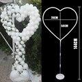 Рамка в форме сердца с изображением воздушного шара, свадебные украшения для помолвки, венок с воздушными шарами, кольцо для Дня Святого Вал...