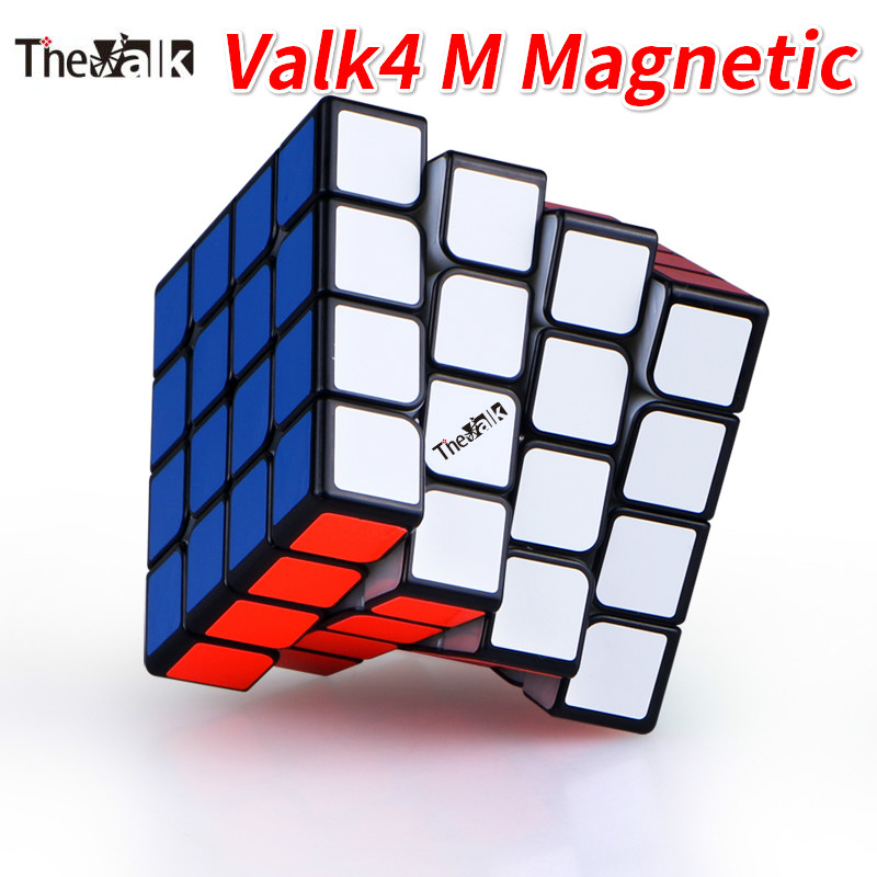 Qiyi Valk4 M 4x4x4 Magnetic Stickerless Magic Cube Speed Cube VALK 4 M Black Valk4M Cube