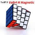 Qiyi Valk4 M 4x4x4 magnético sin adhesivo cubo mágico Cubo de velocidad VALK 4 M cubo negro Valk4M cubos de juguetes educativos