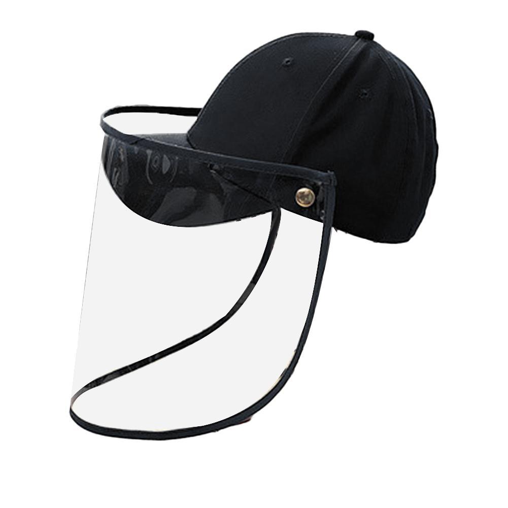 Children Kids Anti-saliva Dustproof Face Cover Mask Baseball Cap Protective Hat Transparent Anti Splash Face Mask Visor Shield