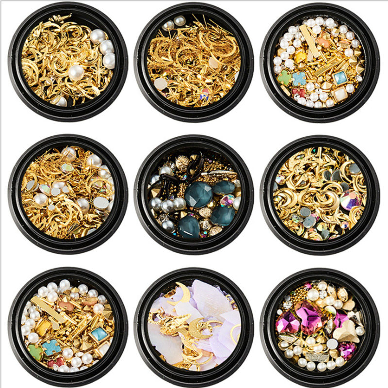 1 Box Mixed Colorful Rhinestones For Nails 3D Crystal Stones For Nail Art Decorations Diy Design Manicure Diamonds
