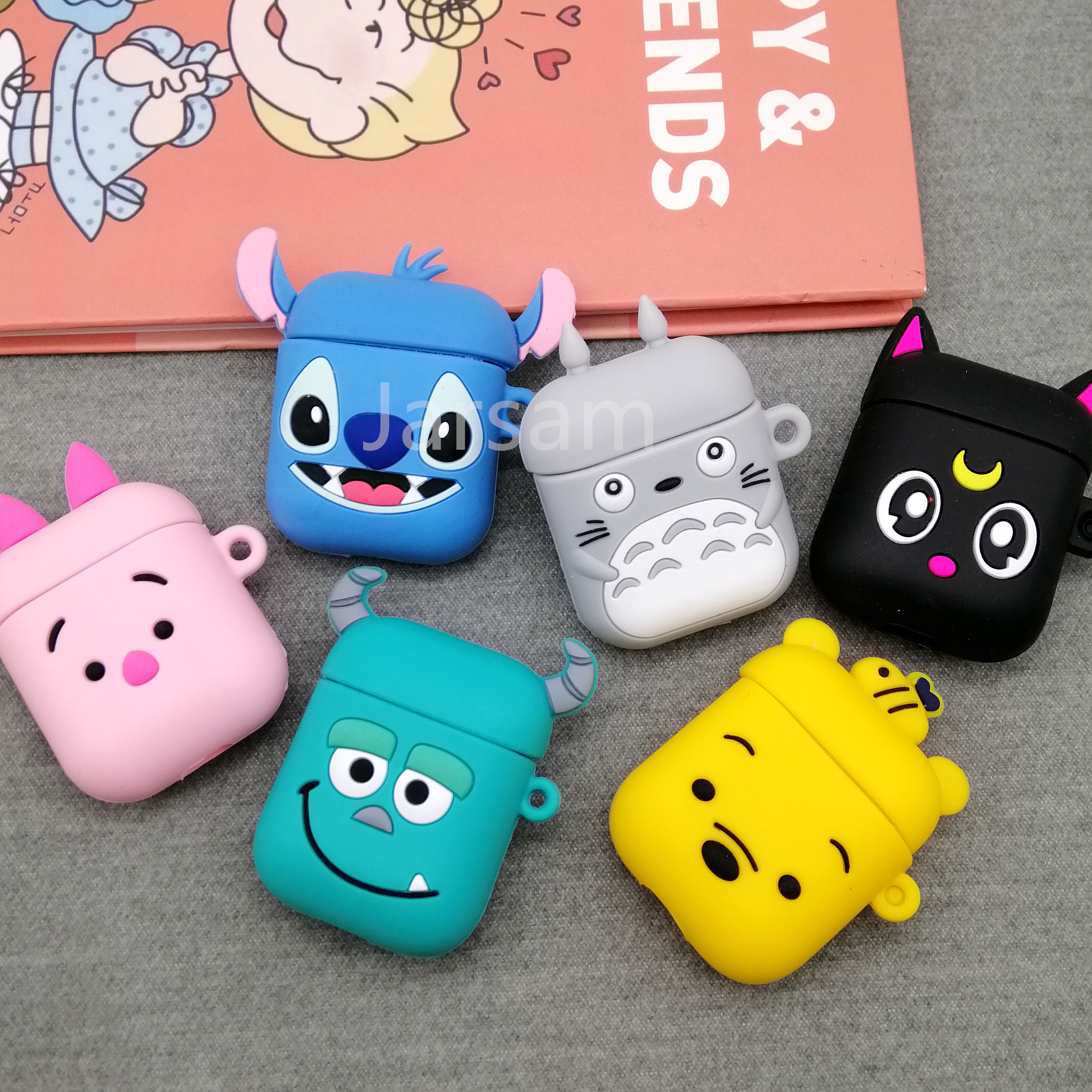 Cases For Apple AirPods 2 Soft Cartoon Avocado Strawberry Earphone Case For Air Pods 1 Charging Box Cover For Airpods With Hook