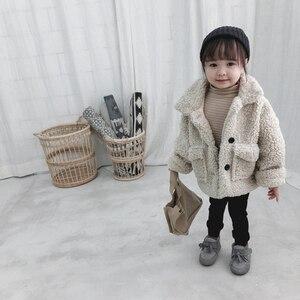 Image 3 - 女の子ジャケット厚く暖かい子供秋冬服子供男の赤ちゃんのため上着女の子コート2020幼児80〜綿130