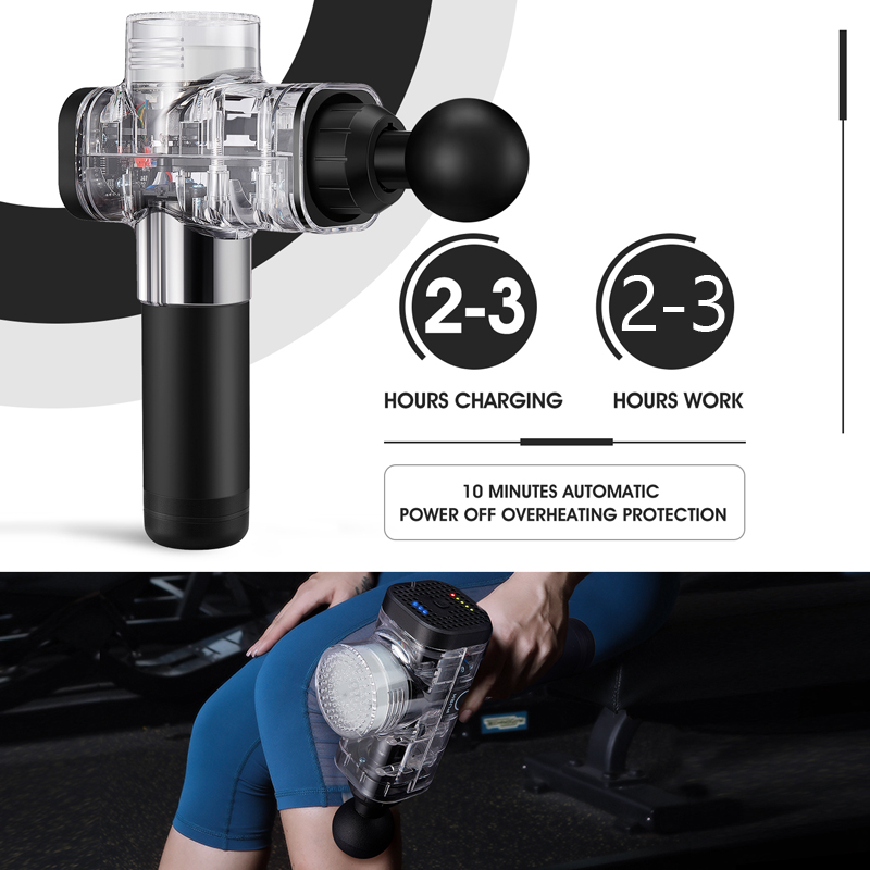 PHOENIX Muscle Massage Gun for Slimming Shaping Pain Relief Electric Physiotherapy therapy Tools Back & Body Hypervolt Massager - 5