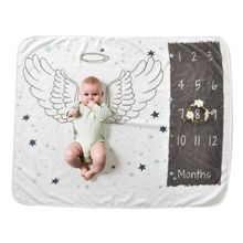 Blanket Photography Baby Milestone Newborn Gift Soft Flannel for Boy Perfect Perfect