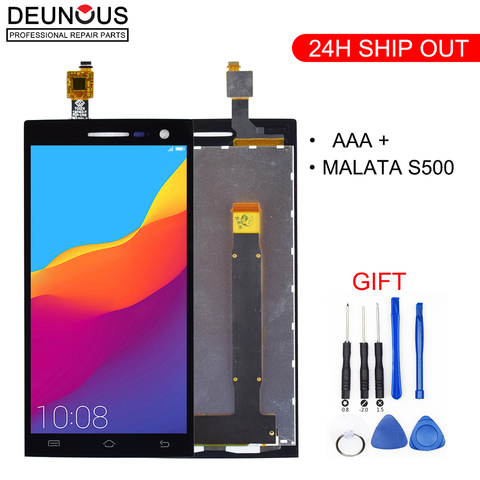 For Malata S500 X500 FPC9255G-V1-D LCD Display + Touch Screen Black Color Mobile Phone LCDs With Touch Panel Pakistan