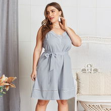 Loose Bandage Women Jumpsuit Playsuit Sleeveless Summer Plus Size Fshion Lady Jumpsuit Spaghetti Strap Belted Female Romper plus shawl collar belted plaid romper