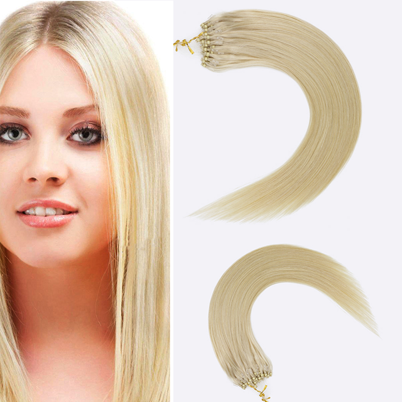 Toysww Micro Ring Hair Extensions 1gStand Machine Remy Hair Micro Link Hair Extensions Human Hair 14-24 (1)