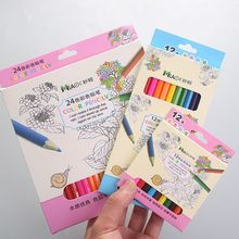 1 Box 12/24 Colour Pencils Natural Wood Colored Pencils Drawing Pencils For School Office