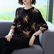 Thin sweater female 2019 autumn sweater women's round neck pullover shirt long sleeve loose printed sweater цена 2017