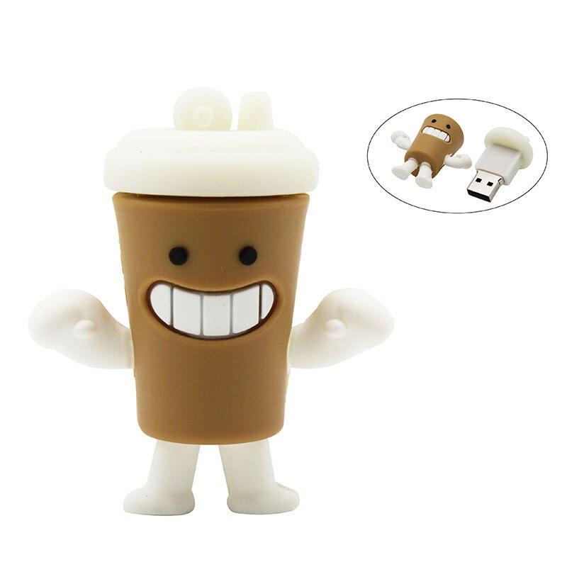 TEXT ME Cute Cartoon Cup Model Usb2.0 4GB 8GB 16GB 32GB 64GB Pen Drive USB Flash Drive Creative Gifty Stick Pendrive