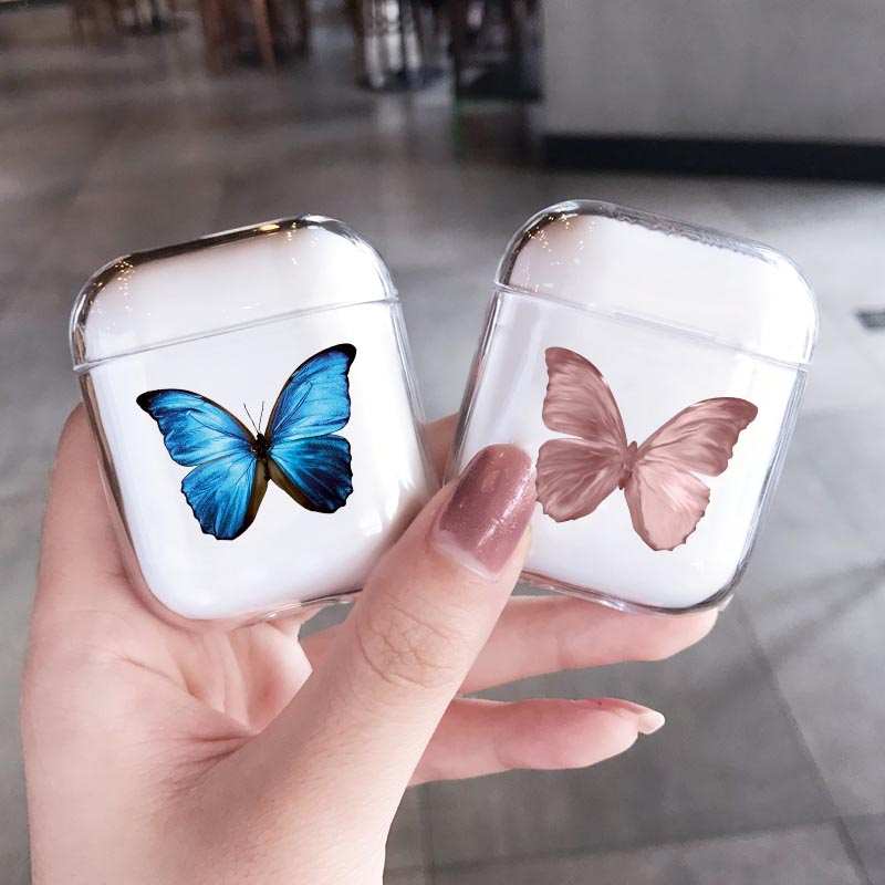 Fashion Beautiful Butterfly Case For Airpods Pro 2 Cover Cute Cartoon Hard Earphone Cover For Air Pods 2 Pro Charging Box Case