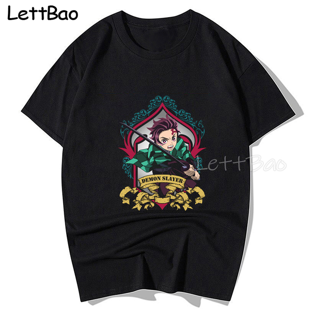 Masked Demon Slayer Dark Printed T Shirt Ulzzang Gothic Tees Fashion Japanese Anime Shirt Men Tee Cotton 100% Oversized Tshirt 4