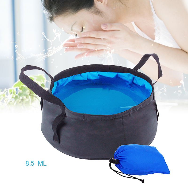 Travel Foldable Basin Camping Washbasin Water Bucket Folding Basin Foot Bath Bag Outdoor Luggage Packing Organizers Accessories