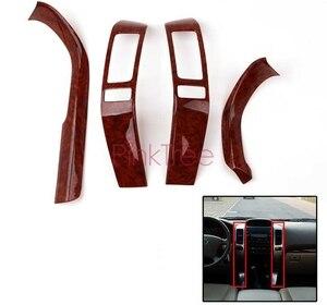 Image 2 - Für Toyota Land Cruiser 120 Prado FJ120 2003 4 5 6 7 2009 Holz Farbe Air Vent Abdeckung Tür Trim abdeckung Auto Innen Zubehör