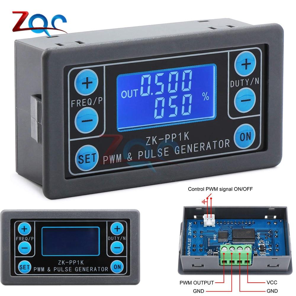 LCD דיגיטלי PWM מחולל אותות דופק מחזור תדר מתכוונן כיכר גל מלבני גל אות פונקציה מחולל