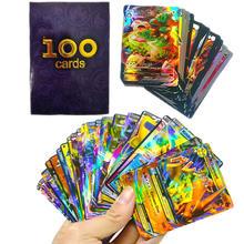 100 sztuk/pudło pokemon VMAX karty GX EX Mega Pokemones gra Booster kolekcje karty angielski handlu kolekcja karty dzieci zabawki