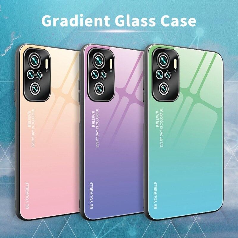Чехол для телефона XiaoMi RedMi Note 10 Pro 10Pro 10S 9 9Pro 9A 9S 9T 8 8Pro 8T 8A 7 7A 6 6A K20 K30 K40, чехол с градиентным стеклом