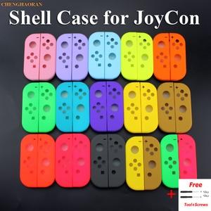 Image 1 - 1x Solide 14 Farben für Nintend Schalter NS Freude Con Ersatz Gehäuse Shell Abdeckung für NX JoyCons Controller Fall Grün rosa Teal