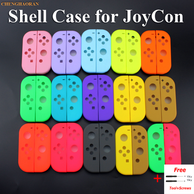 1x katı 14 renkler nintendo anahtarı NS Joy Con yedek konut kabuk kapak NX JoyCons kumanda muhafazası yeşil pembe teal