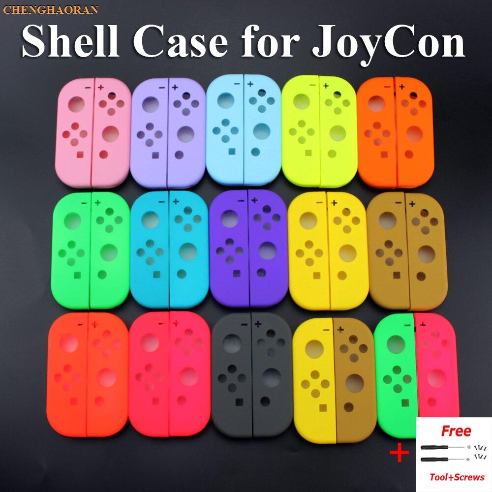 1x sólido 14 colores para Nintend Switch NS Joy Con cubierta de carcasa de repuesto para NX JoyCons caja de controlador verde rosa verde azulado